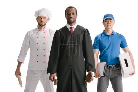 Judge, chef and courier