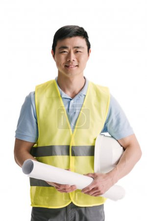 Handsome young asian architect