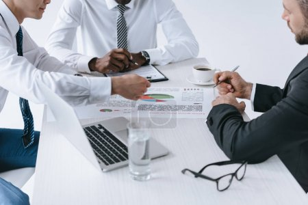 Multiethnic businessmen discussing project