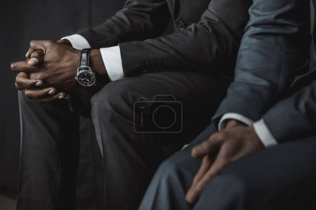 Multiethnic business people in suits