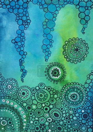 Photo for Hand drawn abstract pattern background - Royalty Free Image