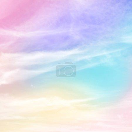 Photo pour Pastel arc-en-ciel couleur fond abstrait - image libre de droit