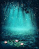 Dark magic forest