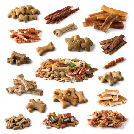 Collection of dog snacks