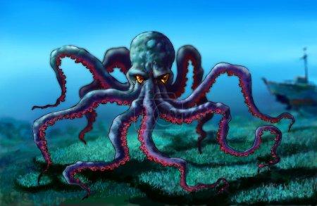 Drawing figure  octopus.