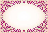Maroon ornament text frame with blank copy space in center