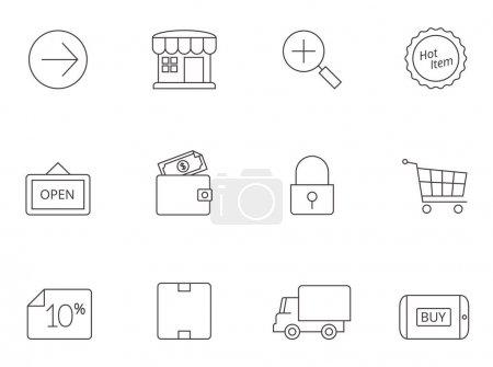 Ecommerce icons series