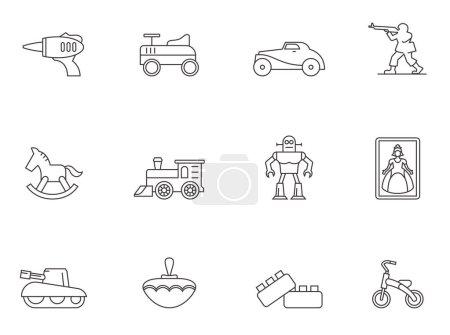 Vintage toys icons
