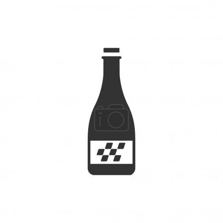 Champagne icon in single color.