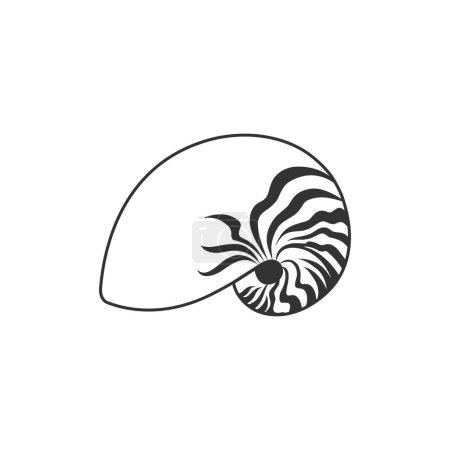 Nautilus icon in single color