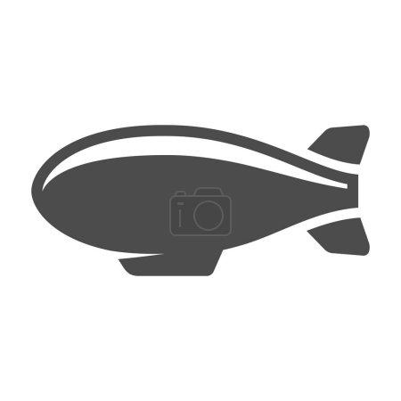 Airship icon in single color