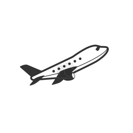 Airplane icon in single grey color.