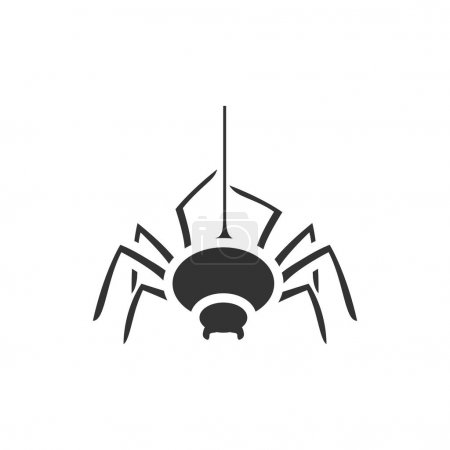 Spider icon in single color.