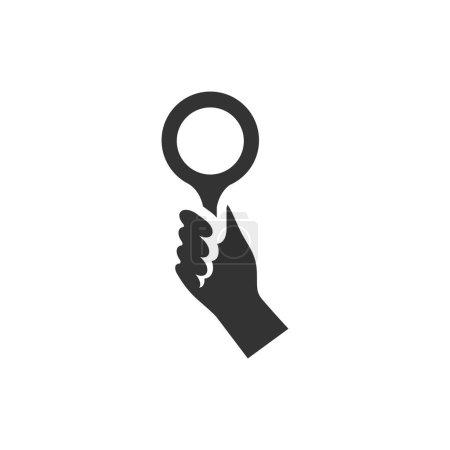 Bidder hand icon