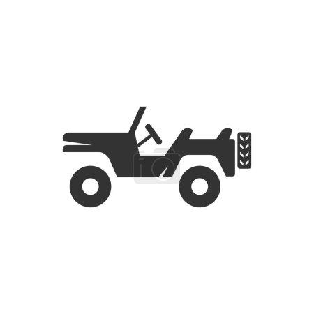 Military vehicle icon