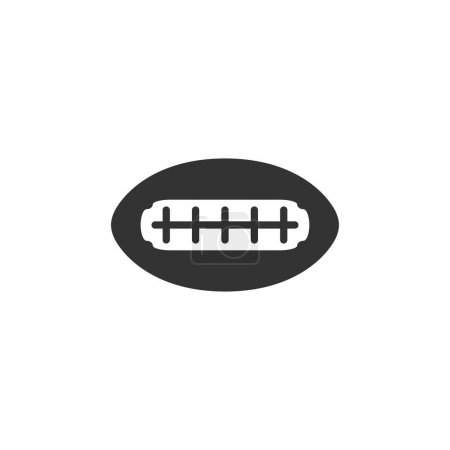 Football icon in single grey color.