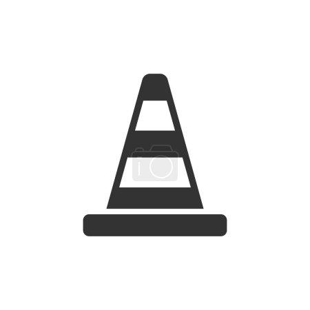 Road sign cone icon
