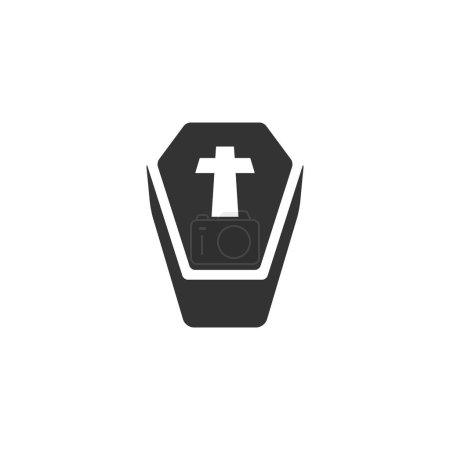 Coffin icon in single color.