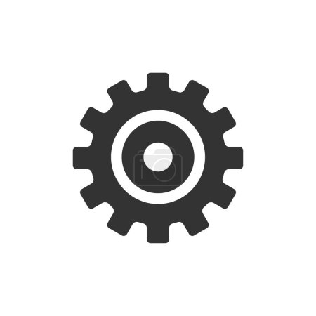Illustration for Setting gear icon in single grey color. - Royalty Free Image