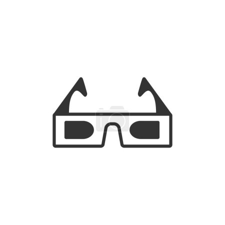 3D glasses icon in single color.
