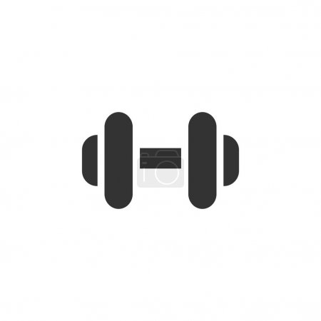 Dumbbell icon in single color.