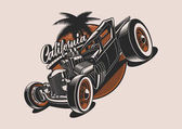 Classic American hot-rod illustration