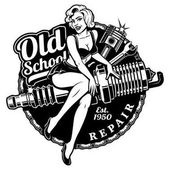 Spark Plug Pin Up Girl (monochrme version)