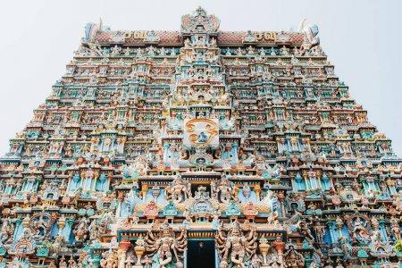 Madurai, Tamil Nadu State / India - December 31 2017: Sri Meenakshi Temple