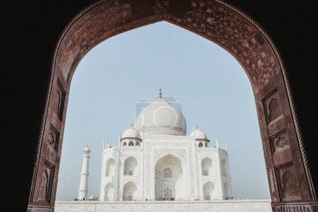 Taj Mahal and an arch