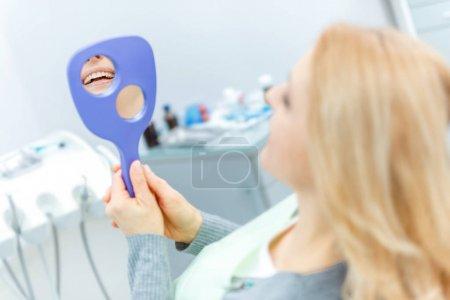 woman at dental check up