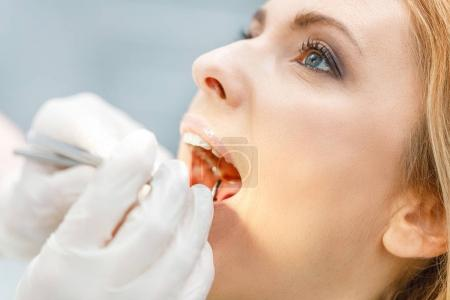 woman at dental check up