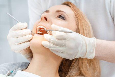 Patient at dental check up