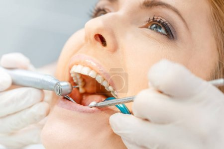Patient at dental check up