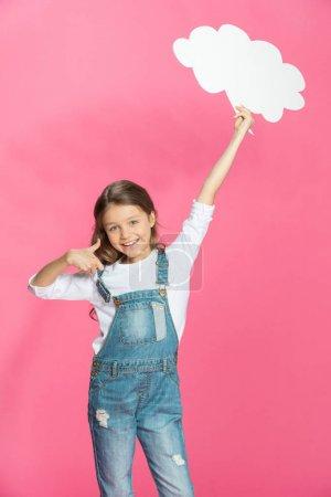 Little girl with speech bubble