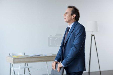 mature pensive businessman