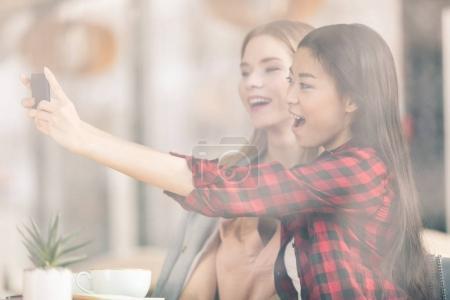 Young women using smartphone