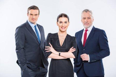Three confident businesspeople