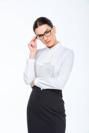Confident young businesswoman