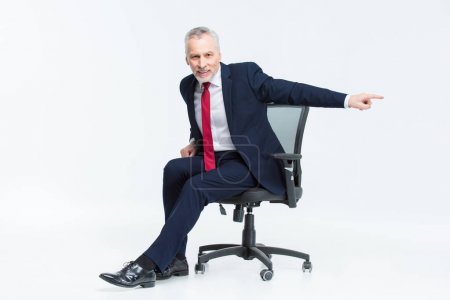 Businessman in office chair