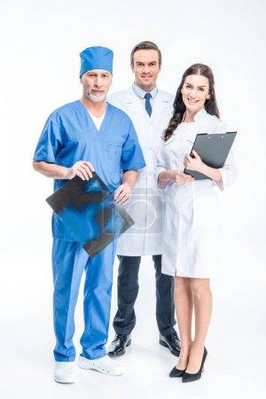 Three confident doctors