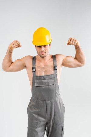 Handsome male builder