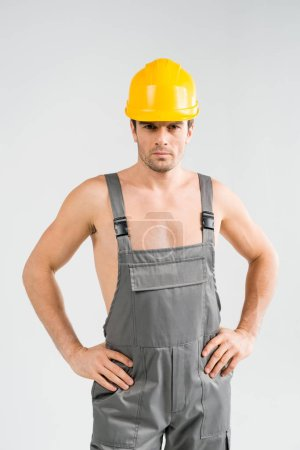 Handsome male builder