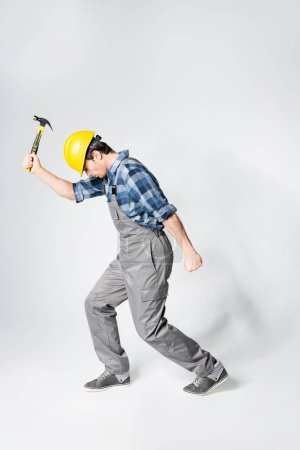 Professional workman in hard hat