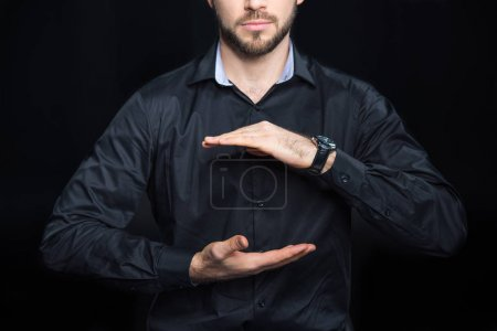 Man holding copy space