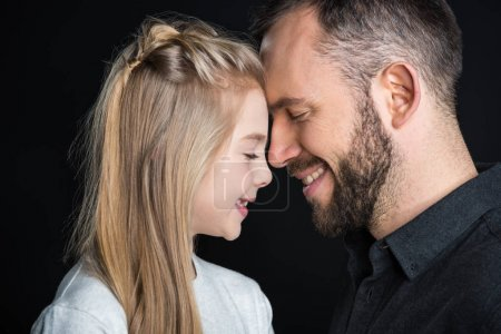 Little girl with her father