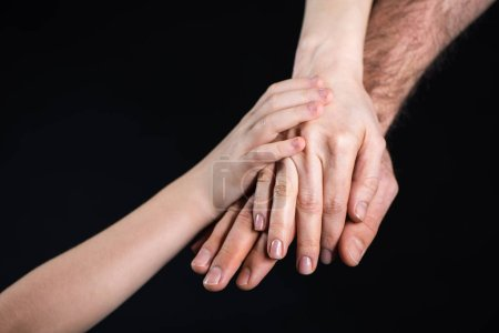 Family stacking hands