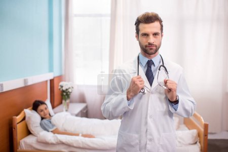 Male doctor in hospital