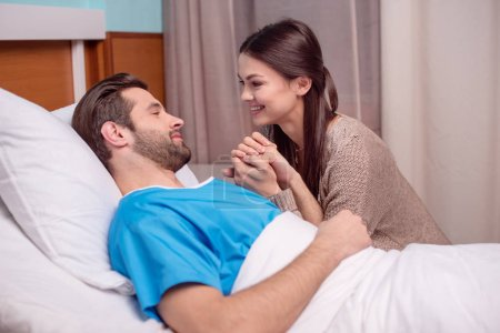 Man and woman in hospital