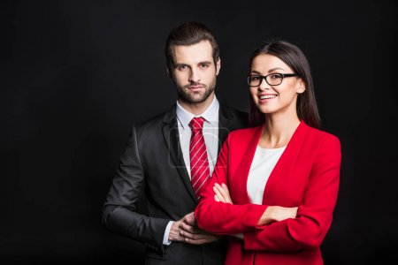 Young confident businesspeople
