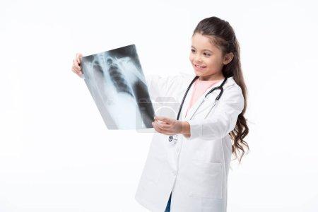 Girl in doctor costume